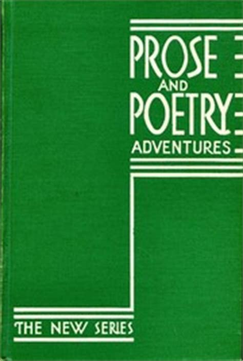 prose and poetry for my phenomenal books prose and poetry adventures 1935 edition open library