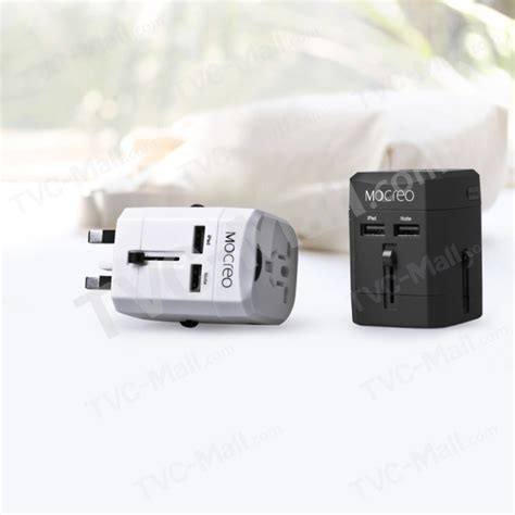 Universal Travel Dual Usb mocreo dual usb universal travel wall charger power adapter converter au uk us eu black