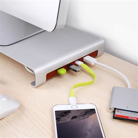 laptop riser for desk suaoki 4 usb computer imac laptop pad desktop workspace monitor riser stand desk ebay