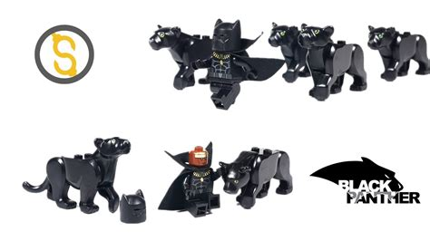 Lego Minifigure Black Panther lego custom black panther minifigure