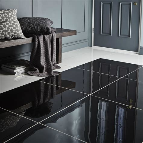 black floor l livourne black polished plain porcelain floor tile