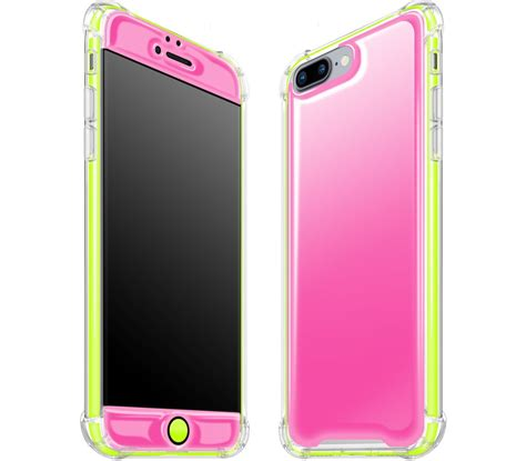 iphone 7 8 plus pink neon yellow glow in the slim rugged adaptation
