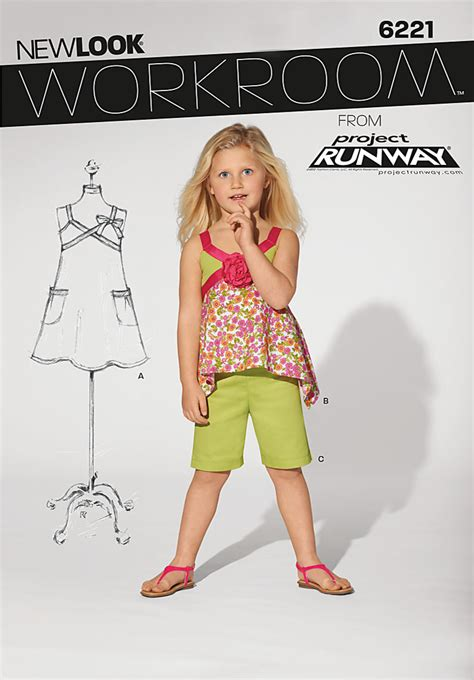 sewing pattern review best of 2013 new look 6221 child s dress top and shorts