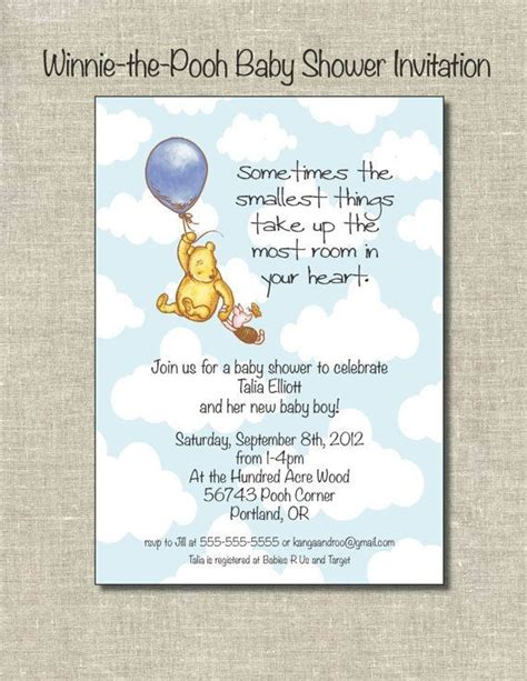 Classic Pooh Invitations Baby Shower by Winnie The Pooh Baby Shower Invitation