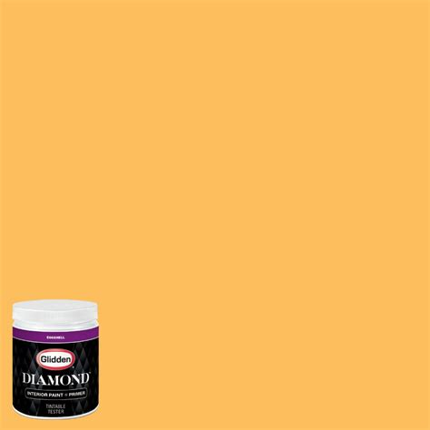 glidden premium 8 oz nhl 005c calgary flames yellow eggshell interior paint with primer