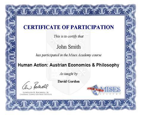 sample certificate for participation delli beriberi co