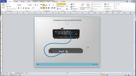 advanced visio visio 2010 connectors and connection points tutorial