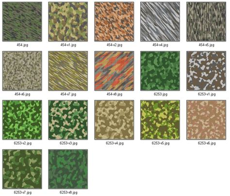 different types of military camouflage patterns daily second life marketplace 17 seamless military camouflage