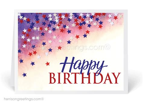 Business Happy Birthday Cards Patriotic Business Birthday Card 38007 Custom