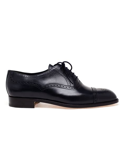 navy blue oxford shoes manolo blahnik oxford brogues in blue for lyst