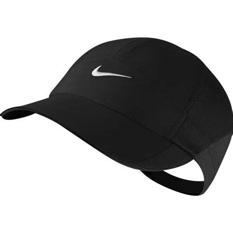 nike featherlight s tennis hat black