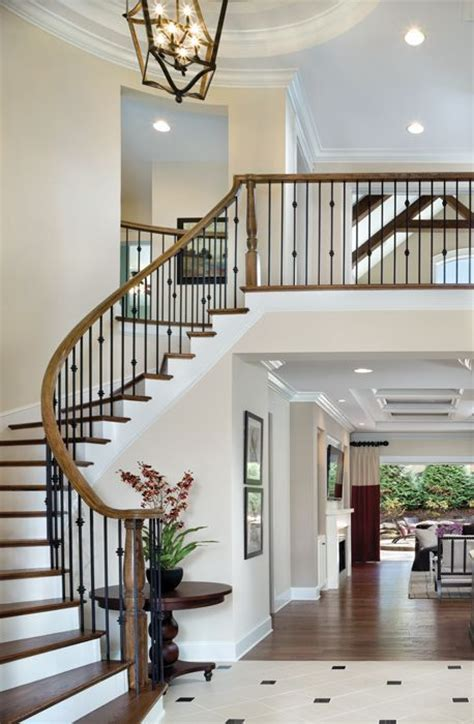 home design story stairs two story foyer charisma design hall pinterest