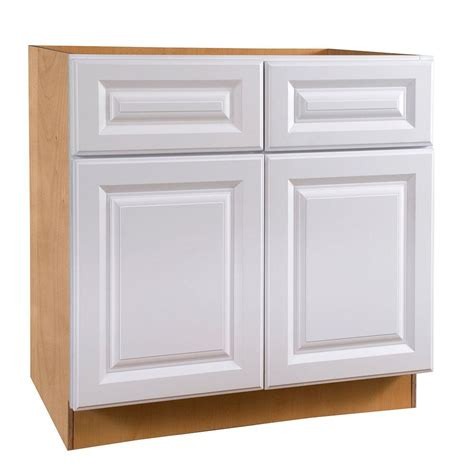 Sink Base Kitchen Cabinet Home Decorators Collection Hallmark Assembled 33x34 5x24 In Sink Base Kitchen Cabinet With