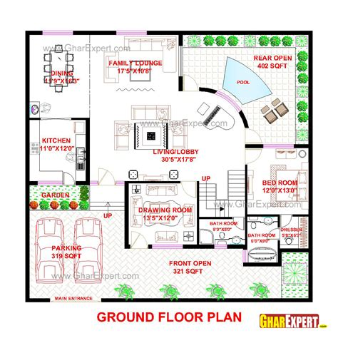 56 sq ft penthouse plan for 56 feet by 53 feet plot plot size 330