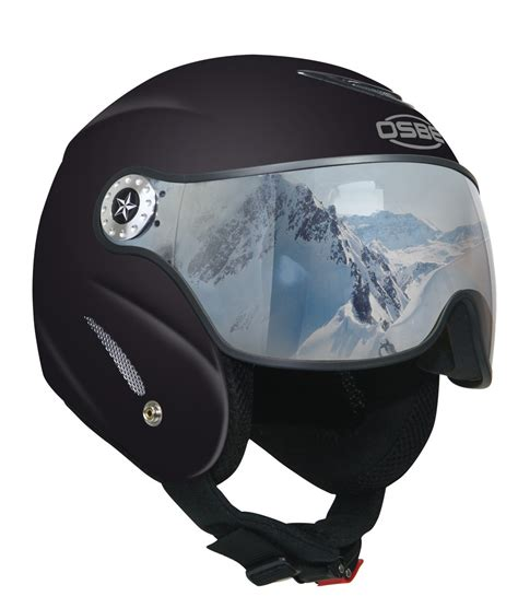 Italian 'Robocop' Ski Helmet