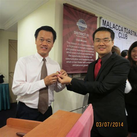 zimmerle led malacca toastmasters club installation and meeting at