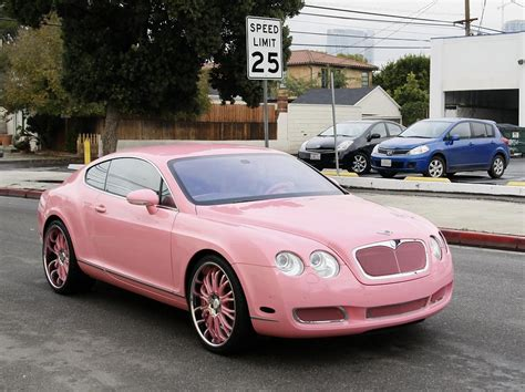 bentley pink paris hilton out shopping with her new pink bentley zimbio
