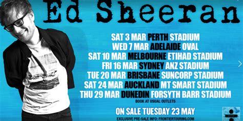 ed sheeran concert 2018 ed sheeran perth stadium australian tour starts at new