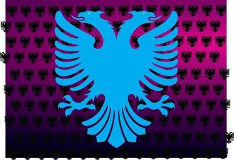 Albanian Flag Outline by Albanian Eagle Vector Image Clipart Me
