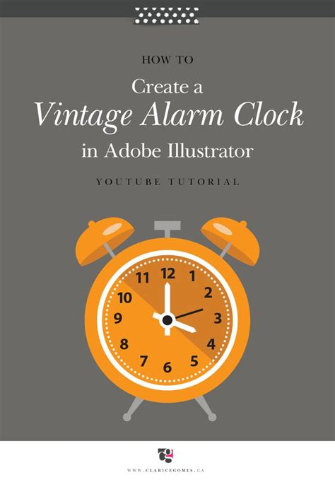 vintage pattern adobe illustrator tutorial vintage alarm clock in adobe illustrator