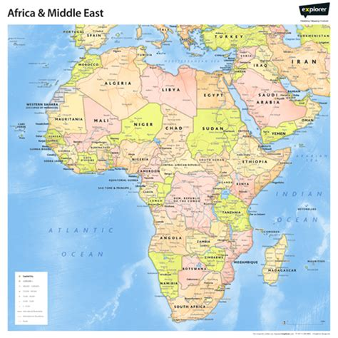 africa  middle east wall map middle east maps atlases