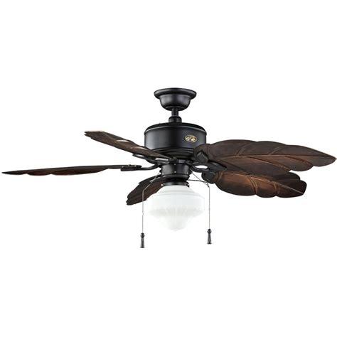 Lu Led Iron hton bay nassau 52 in led gilded iron ceiling fan
