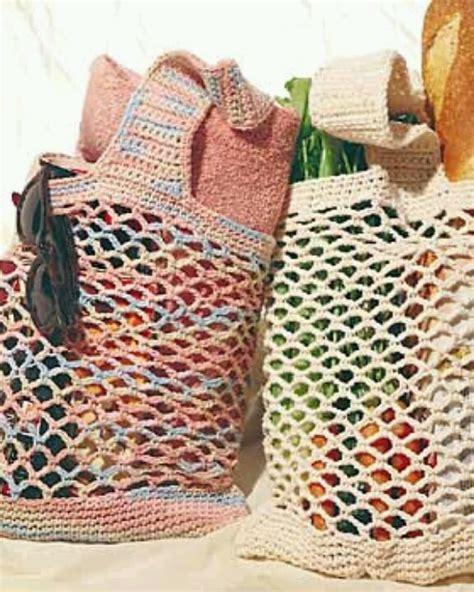 crochet pattern grocery bag crocheted shopping bags crochet pinterest