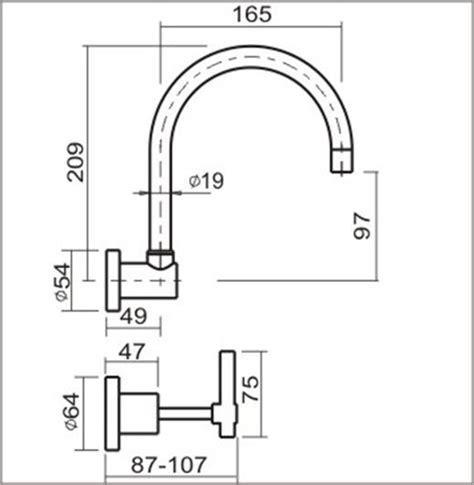 Shower Bath Taps kitchen laundry wall taps amp spout 3 4 lever taps ezyfix