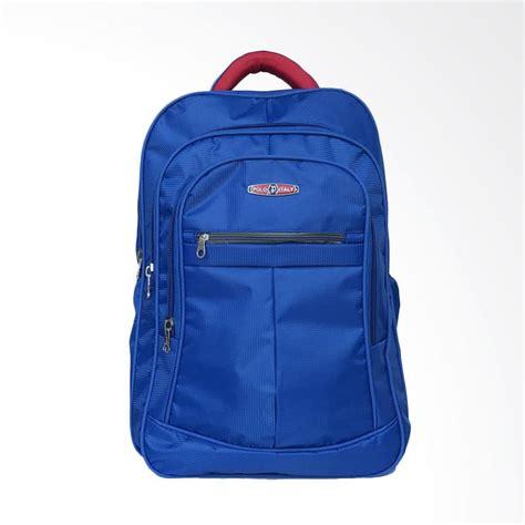 Ransel Besar Backpack Sablon Biru jual polo itali tas ransel laptop biru harga kualitas terjamin blibli