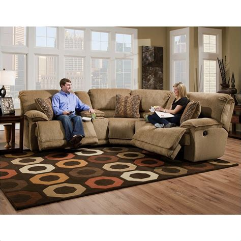 catnapper sectional catnapper grandover 5 piece sectional sofa in sandstone