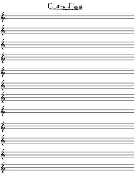 printable staff tenor clef music paper