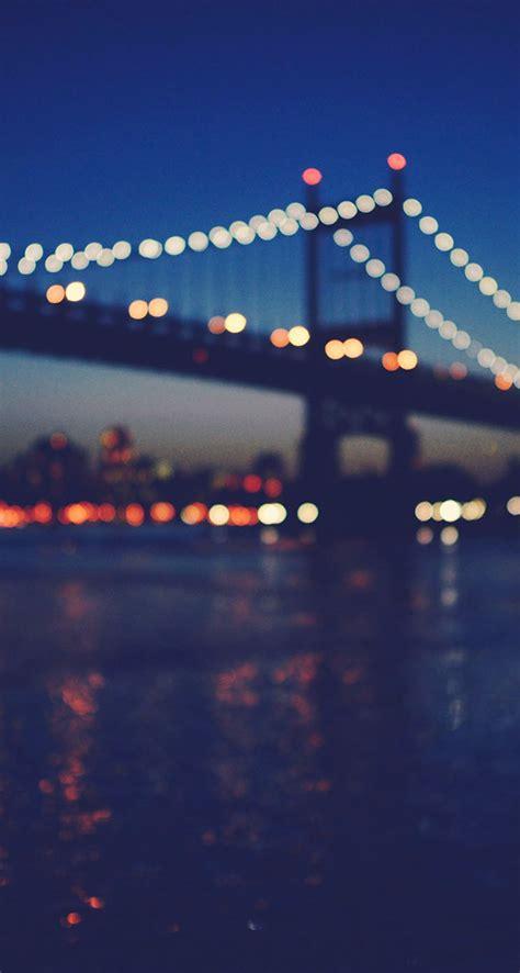 Phone Lookup Ny New York City Manhattan Bridge Light Bokeh The Iphone Wallpapers
