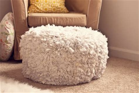 Fluffy Pouf Ottoman Picture Of Light Colored Fluffy Pouf