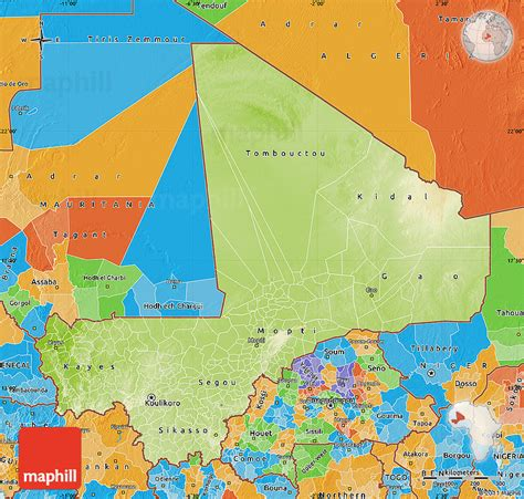 political map of mali physical map of mali political outside