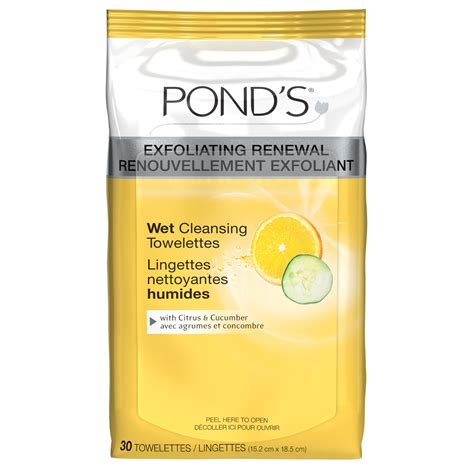 Drugstore Ponds Clean Sweep Cleansing Towelettes by Pond S Exfoliating Renewal Cleansing Towelettes With