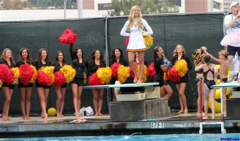swim with mike usc cheerleaders 2016 revvin you up to get revenue up the trojan haters club