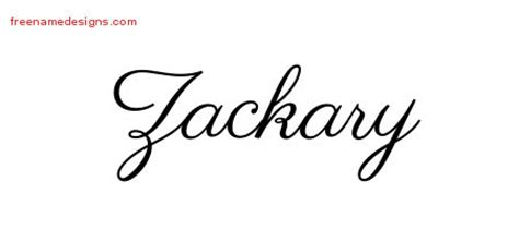 zackary archives free name designs