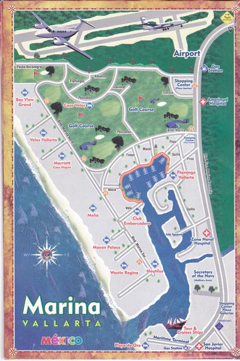 vallarta map of mexico marina vallarta the vallarta marina in photos