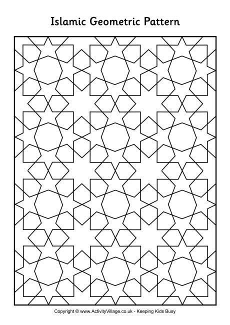 tile pattern worksheets islamic geometric pattern 1 work related pins
