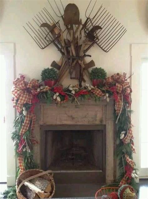 country christmas mantel decorating ideas primitive decorated fireplaces smith s home oh how i this would be