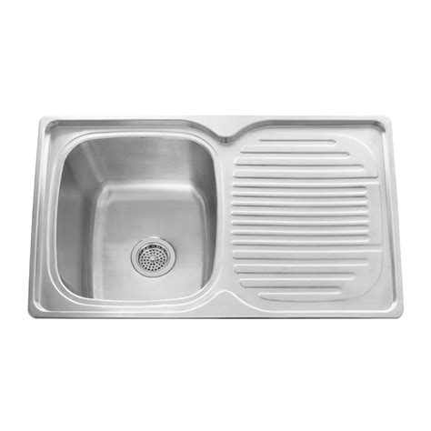 Drainboard Kitchen Sinks 32 Quot Infinite Rectangular Drop In Stainless Steel Prep Sink With Drainboard Kitchen