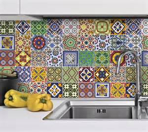 superb Kitchen Backsplash Tile Stickers #1: stickers-tiles-talavera-1.jpg