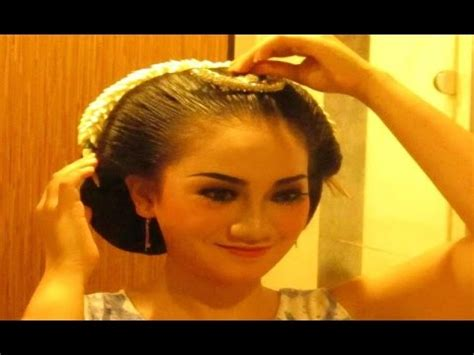 tutorial rambut gelung hair makeup for javanese sinden performance hair por