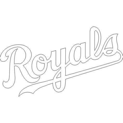 Free Coloring Pages Of Kansas City Royals Kc Colour Pages