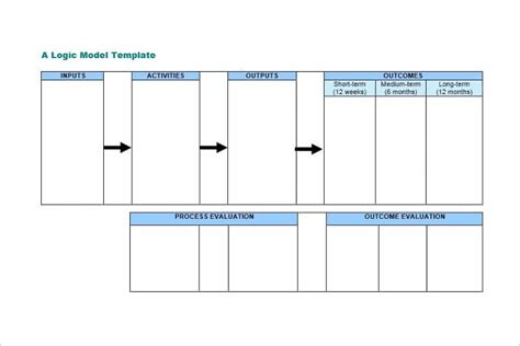47 Logic Model Templates Free Word Pdf Documents Logic Model Template Microsoft Word