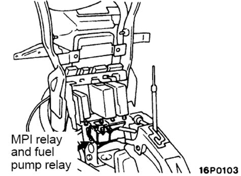 solved whwre is the fuel relay for 95 mitsubishi fixya