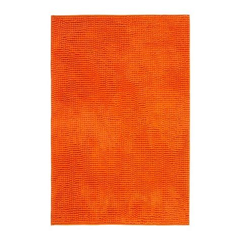 Ikea Orange Toftbo Bath Shower Mat Rug Bathtub Bathroom Orange Bathroom Rug