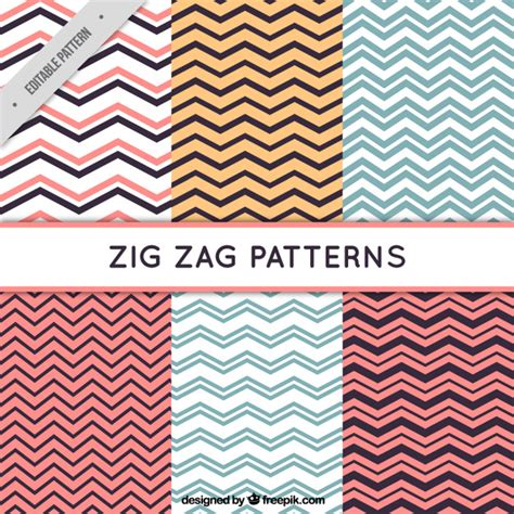 zig zag pattern free download six zig zag patterns vector free download