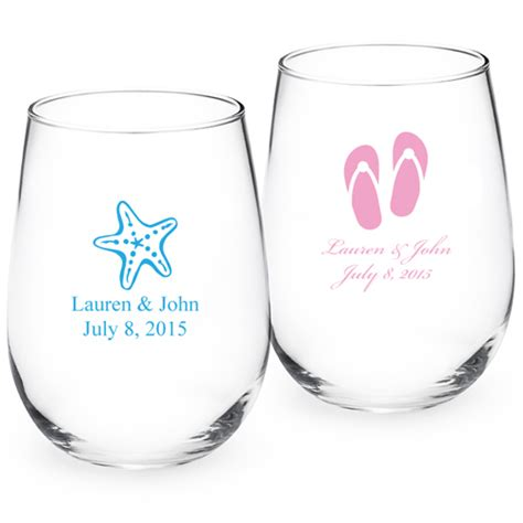Monogrammed Barware Glasses Personalized Stemless Wine Glass Personalized