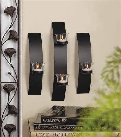 Contemporary Candle Wall Sconces contemporary candle wall sconce trio